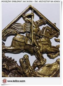 Prezent dla Jerzego Mosięzna plakietka - Zawieszka św. Jerzy walczący z smokiem - 2823554183