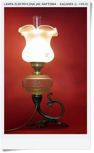Lampa kaganek elektryczny jak stary na naftę - 2823554322