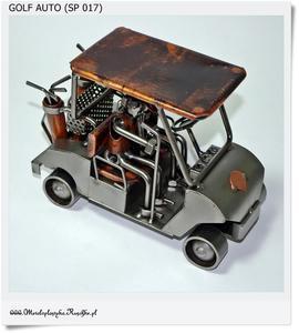 Para golfistów jadących autem na polu golfowym - 2823554451