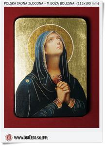 Matka Boża Bolesna Polska ikona złocona - 2823554664