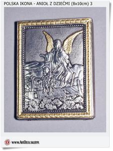 99,00 zł Anioł stróż z dziećmi na kładce Ikona na prezent i upominek - 2823554776