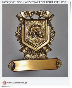 Prezent dla strażaka Mosiężna wizytówka Logo - Herb (Nowość) - 2836473826