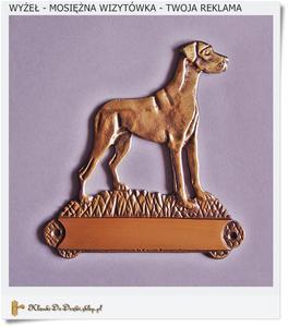 Mosiężna wizytówka - Pies Wyżeł - To Twoja reklama - 2836473828