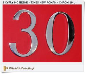 2 srebrne Cyfry na dom - Mosiądz Times New Roman 19 cm - 2858952164