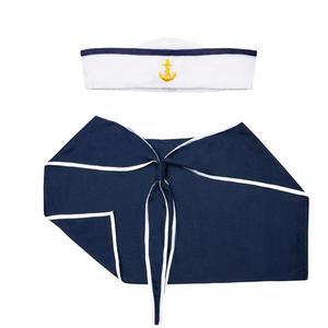 Zestaw marynarski: kołnierz i czapka