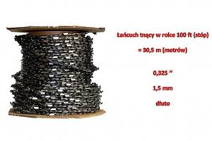 """Łańcuch tnący do pił 0,325"""" 1,5mm w rolce 100ft pełne dłuto - 2823177640"""