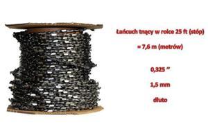 """Łańcuch tnący do pił 0,325"""" 1,5mm w rolce 25ft pełne dłuto - 2823177641"""