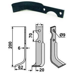 Nóż glebogryzarki do HONDA prawy 200x62x30x6 - 2823178994