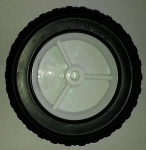 Koło do kosiarki uniwersalne 200 mm fi osi 12,7 mm plastikowe opona gumowa - 2823179280