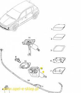 Silnik dysza lewa spryskiwacza reflektora - 2827262204
