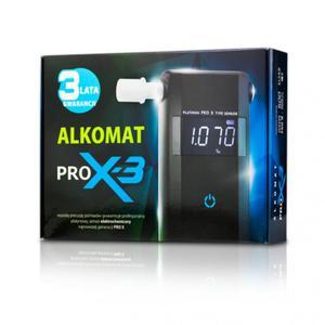 Alkomat PRO-X3, GWARANCJA 3 LATA, 24 miesiące kalibracji w cenie, 10 ustników gratis - 2875313829