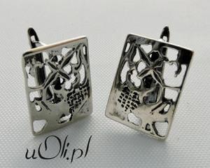 Oryginalne kolczyki ze srebra - 2823480868