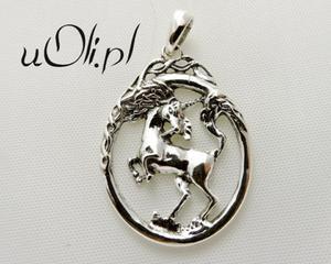 Jednorożec oryginalny srebrny wisior - 2823481339