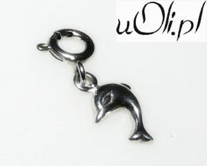 Mały delfinek zawieszka do bransoletki charms - 2823480783