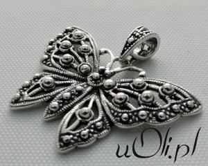 Motyl duży wisiorek srebro 925 - 2823481341