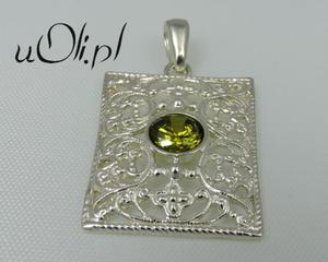 SREBRNY WISIOREK oliwin w starym stylu nowy - 2823481348