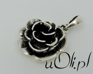 Wisior róża różyczka cz. kompletu - 2823481356