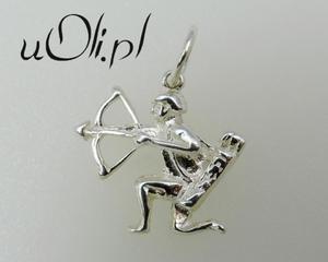 Znak Zodiaku -białe srebro- STRZELEC - 2823481385