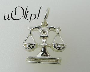 Znak Zodiaku -białe srebro- WAGA - - 2823481387