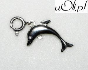 Średni delfinek zawieszka do bransoletki charms - 2823480800