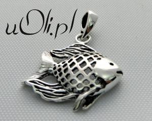 Wisiorek ryba rybka oksydowane srebro 925 - 2823481402