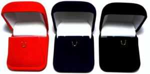 Pudełko na kolczyki i wisiorek - CZERWONE - 2823480724