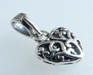 Wisiorek serce oksydowane srebro - 2823481404