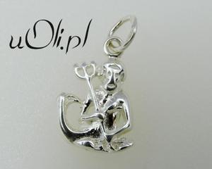 Znak Zodiaku -białe srebro- Wodnik - 2823481408