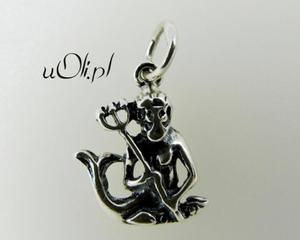Znak zodiaku Wodnik - oksydowane srebro - 2823481412