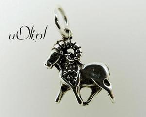 Znak zodiaku Baran - oksydowane srebro - 2823481418