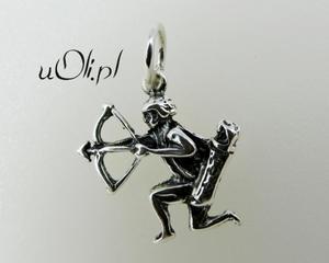 Znak zodiaku Strzelec - oksydowane srebro - 2823481419