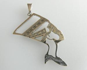 Nefretete srebro 925 - duży wisior - 2823481425