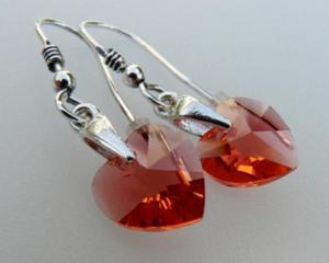Kolczyki padparadscha Kryształ Swarovski - 2823480940