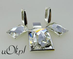 KOMPLET kolczyki wisiorek Swarovski cristal - 2823480315