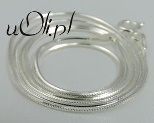 łańcuszek żmijka białe srebro 50 cm - 2823480691