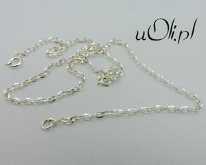 Łańcuszek białe srebro klasyczny splot 50 cm - 2823480695