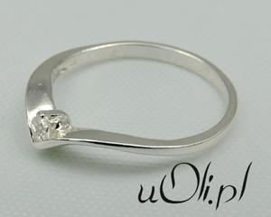 Pierścionek srebro okrągła cyrkonia rozmiar 9 - 2823480622