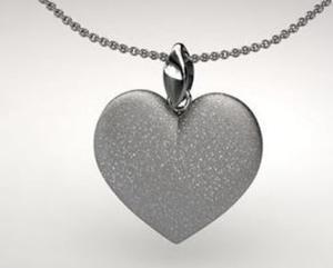 Wisiorek serce rodowane diamentowane - 2823481453