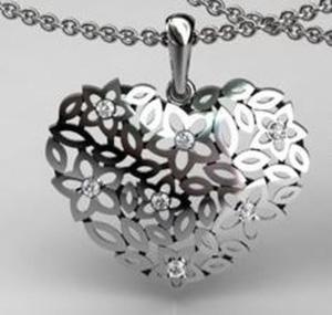 e96eab755f06c4 Wisiorek ażurowe serce z cyrkoniami rodowane duże - 2823481462
