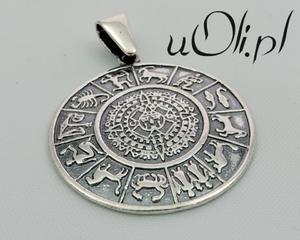 Wisior duży Zodiak znaki zodiaku srebro oksyda - 2823481464