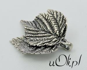 Wisiorek liść srebro oksyda