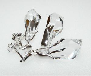 Komplet kolczyki wisiorek Swarovski cristal - 2823480368