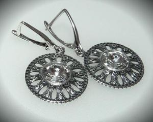 Kolczyki kryształ Swarovski rivoli cristal 925 - 2823481012