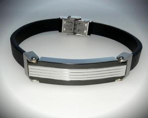 Bransoletka męska skóra stal Stainless Steel 1 - 2823481648
