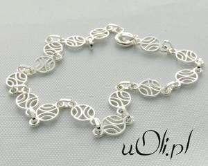 Bransoletka filigran srebro - 2823481234