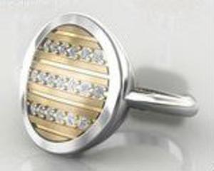 Pierścionek srebro złocone r. 16-17 - 2823480634