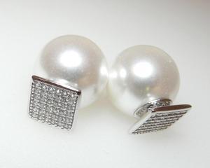Kolczyki gwiazd kulki perła cyrkonia celebrytki - 2823481034