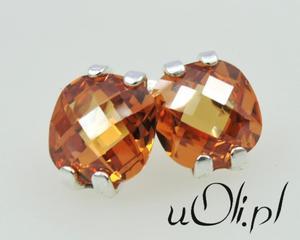 Kolczyki kryształ SWAROVSKI pomarańczowy - 2823481036