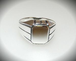 Sygnet oksydowane srebro r. 25 - 2823481328