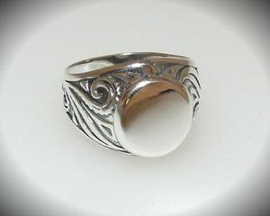 Sygnet grawerowane oksydowane srebro r. 22 - 2823481330